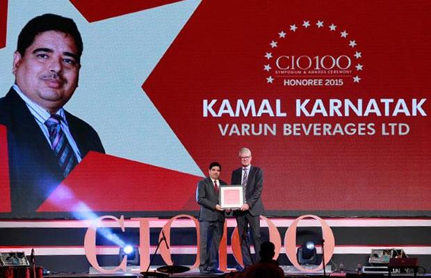 The Versatile 100: Kamal Karnatak, Senior VP and Group CIO of R J Corporation receives the CIO100 Award for 2015