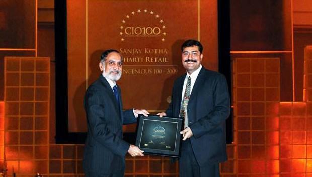 The Ingenious 100: Sanjay Kotha, CIO of Bharti Retail receives the CIO100 Award for 2009