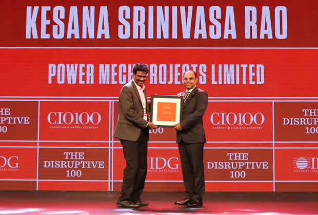The Disruptive 100: Kesana Srinivasa Rao, Head-SAP & IT, Power Mech Projects receives the CIO100 Award for 2019