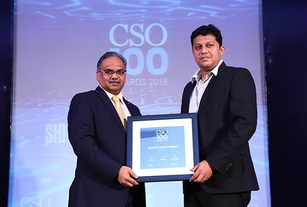 Siddharth Sharad Padbidri, Director – IT Risk & Security, Asia (Regional CISO) at MetLife receives the CSO100 Award for 2018