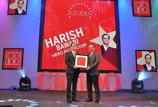 The Transformative 100: Harish Bawari, Head-Business Solutions and GM-IS at Hero Motocorp receives the CIO100 Award for 2016