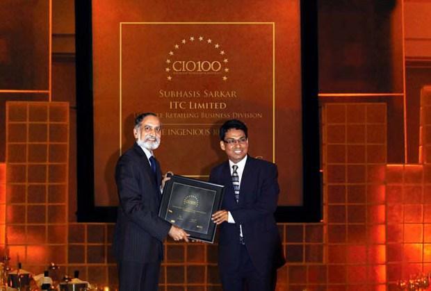 The Ingenious 100: Subhasis Sarkar, Divisional CIO of ITC Lifestyle Retailing Business receives the CIO100 Award for 2009