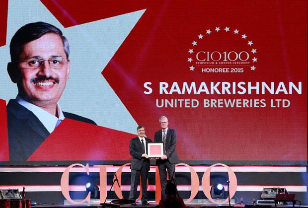 The Versatile 100: S Ramakrishnan, Divisional VP-IT at United Breweries receives the CIO100 Award for 2015
