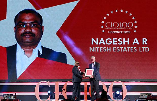 The Versatile 100: Nagesh AR, Head IT, Nitesh Estate receives the CIO100 Award for 2015