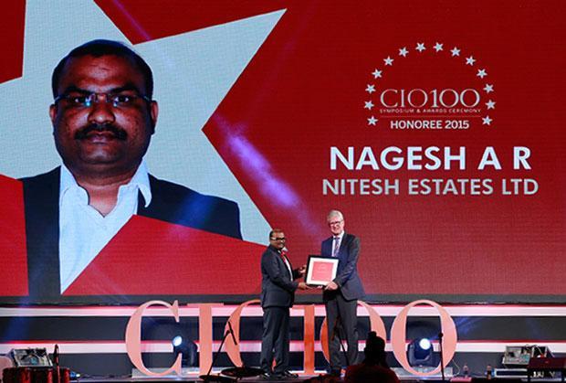 The Versatile 100: Nagesh AR, Head IT, Nitesh Estate receives the CIO100 Award for 2015