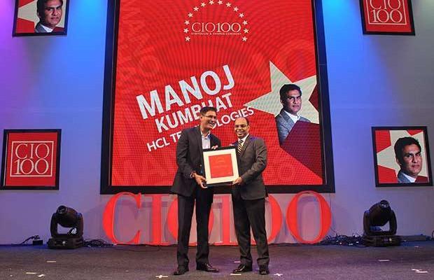 The Transformative 100: Manoj Kumbhat, Sr. VP & Global CIO, HCL Technologies receives the CIO100 Award for 2016