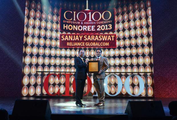 The Astute 100: Sanjay Saraswat, CIO of Reliance Globalcom receives the CIO100 Award for 2013