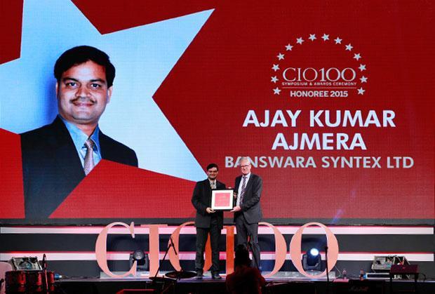 The Versatile 100: Ajay Kumar Ajmera, DGM - IT of Banswara Syntex receives the CIO100 Award for 2015