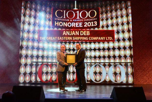 The Astute 100: Anjan Deb, Head-IT of The Great Eastern Shipping Co receives the CIO100 Award for 2013