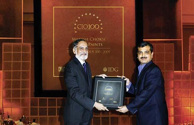 The Ingenious 100: Manish Choksi, President-IT of Asian Paints India receives the CIO100 Award for 2009