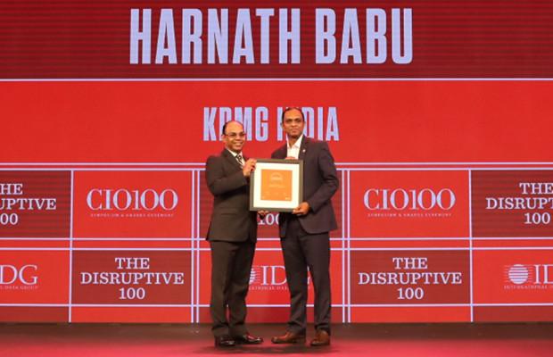 The Disruptive 100: Harnath Babu, Chief Information Officer, KPMG India receives the CIO100 Award for 2019