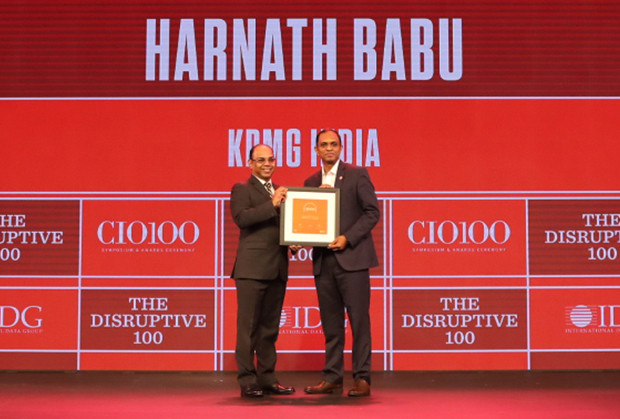 The Disruptive 100: Harnath Babu, Chief Information Officer, KPMG India receives the CIO100 Award for 2019