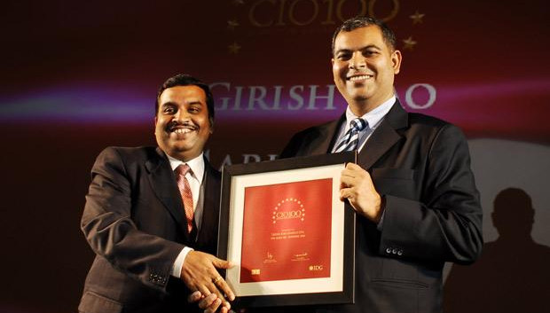 The Agile 100: Girish Rao, Head IT of Marico receives the CIO100 Award for 2010