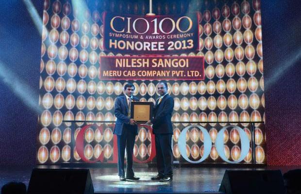 The Astute 100: Nilesh Sangoi, Meru Cab Company receives the CIO100 Award for 2013