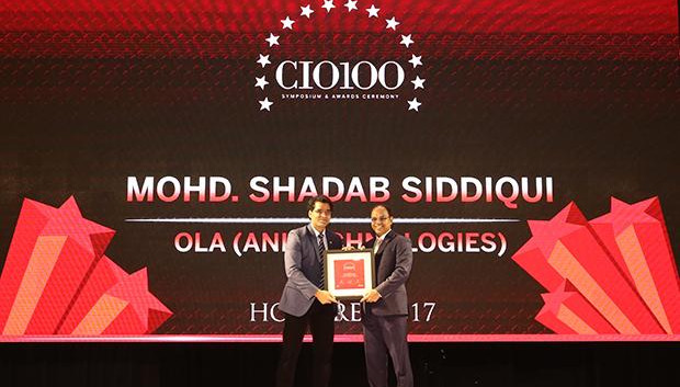 The Digital Innovators: Mohd. Shadab Siddiqui, Head of Security Ola, ANI Technologies receives the CIO100 Award for 2017