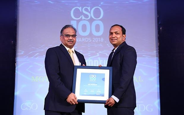 Amit Ghodekar, VP-IT & Group CISO at Motilal Oswal Financial Services receives the CSO100 Award for 2018