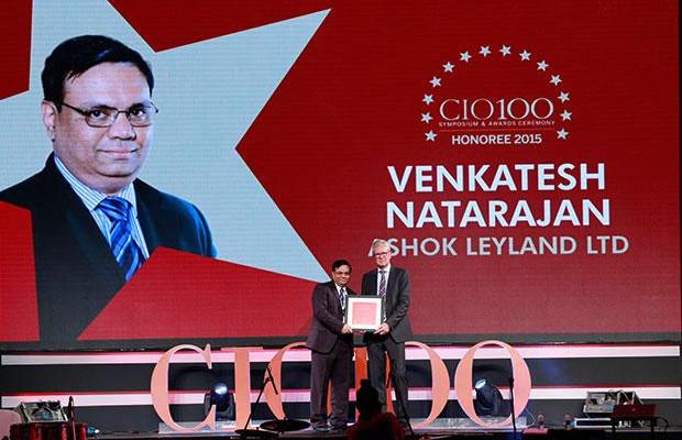 The Versatile 100: Venkatesh Natarajan, Special Director-IT of Ashok Leyland receives the CIO100 Award for 2015