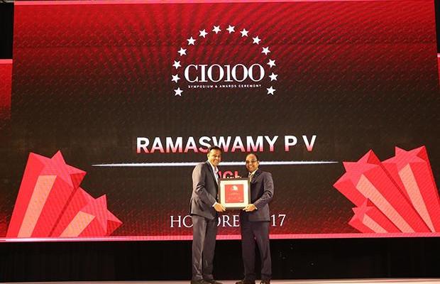 The Digital Innovators: Ramaswamy P V,Vice President & Head, Enterprise Information Systems, HCL Technologies receives the CIO100 Award for 2017