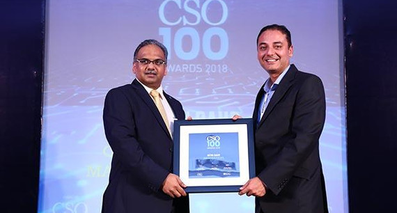 Nitin Gaur, Director - IS at Omega Healthcare Management Services receives the CSO100 Award for 2018