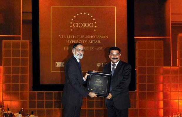 The Ingenious 100: Veneeth Purushotaman, CIO of Hypercity Retail receives the CIO100 Award for 2009