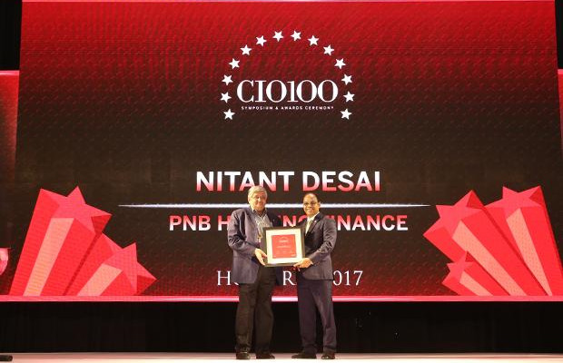 The Digital Innovators: Nitant Desai, Chief Centralized Operations and Technology Officer at PNB Housing Finance receives the CIO100 Award for 2017