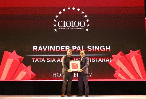 The Digital Innovators: Ravinder Pal Singh, CIO and SVP-Innovation at Tata Sia Airliners (Vistara) receives the CIO100 Award for 2017