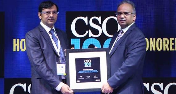 Yogesh Kumar, DGM(IT), at Lalitpur Power Generation Company, Bajaj Group receives the CSO100 Award for 2019