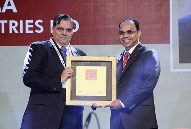 CIO of the Decade: S S Sharma, Head IT, JK Tyres and Industries receives the CIO100 Special Award for 2015.