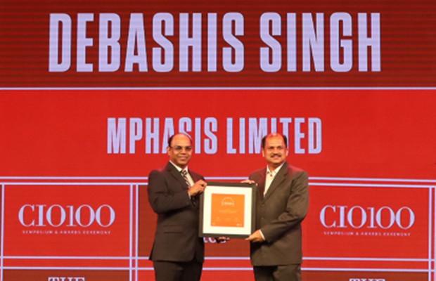 The Disruptive 100: Debashis Singh, SVP & CIO, Mphasis receives the CIO100 Award for 2019