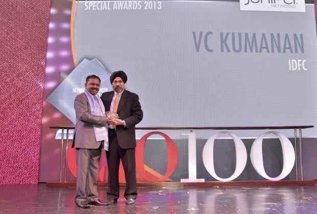 The Astute 100: V C Kumanan, Sr. Director-IT, Infrastructure Development Finance Corporation (IDFC) receives the CIO100 Award for 2013