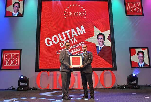 The Transformative 100: Goutam Datta, VP-Technology at ICICI Lombard General Insurance Company receives the CIO100 Award for 2016