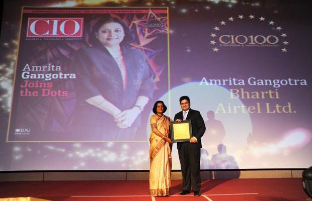 The Creative 100: Amrita Gangotra,Director-IT, Bharati Airtel receives CIO100 Award for 2011
