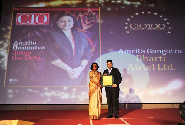 The Creative 100: Amrita Gangotra,Director-IT, Bharati Airtel receives CIO100 Award for 2011