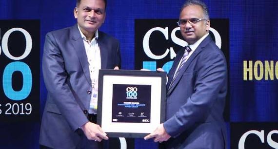Paresh Baldha, DGM IT at Sasan Power receives the CSO100 Award for 2019