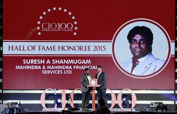 Hall of Fame: Suresh A Shanmugam, Head - Business IT, Mahindra & Mahindra Financial receives the CIO100 Special Award for 2015.