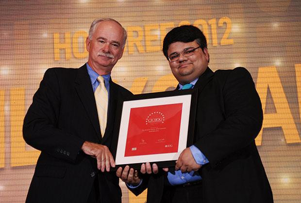 The Resilient 100: Vilakshan Jakhu, CIO of BPTP receives the CIO100 Award for 2012