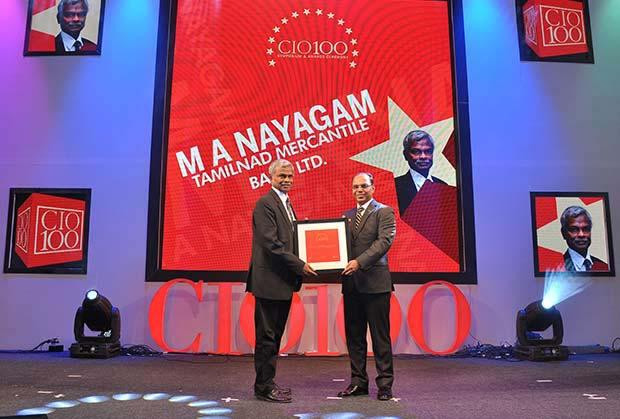 The Transformative 100: M A Nayagam, GM-IT of Tamilnad Mercantile Bank receives the CIO100 Award for 2016