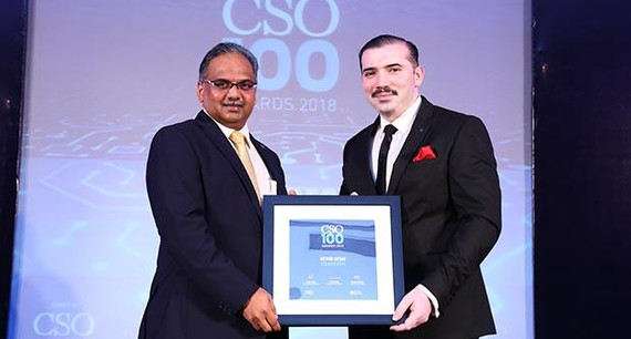 Keyur Desai, CIO at Essar Ports & Shipping, Head InfoSecurity and Communications of Essar receives the CSO100 Award for 2018