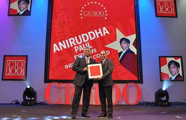 The Transformative 100: Aniruddha Paul, Chief Technology Officer, Exide Life Insurance receives the CIO100 Award for 2016