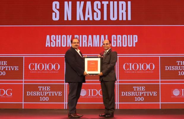 The Disruptive 100: Satyanarayana Kasturi, Group CIO, Ashok Piramal Group receives the CIO100 Award for 2019