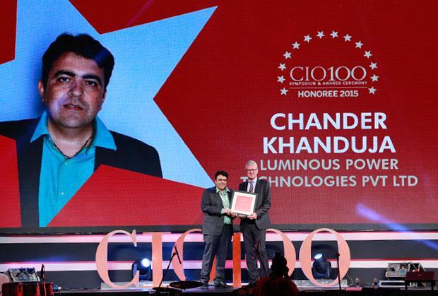 The Versatile 100: Chander Khanduja, CIO, Luminous Power Technologies receives the CIO100 Award for 2015