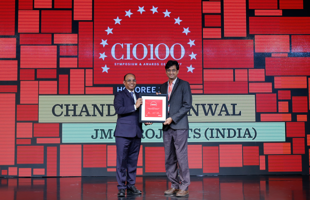 The Digital Architect: Chandan Burnwal, General Manager-IT at JMC Projects (India) receives the CIO100 Award for 2018