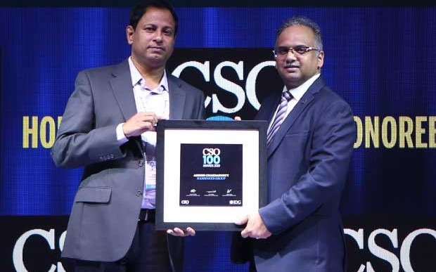 Ashish Chakraborty, Head IT & Security, Harbinger Group, receives the CSO100 Award for 2019
