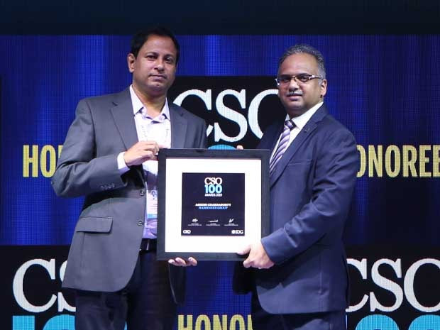 Ashish Chakraborty, Head IT & Security, Harbinger Group, receives the CSO100 Award for 2019