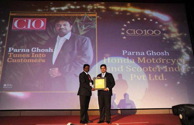 The Creative 100: Parna Ghosh, CIO of Honda Motorcycle and Scooter India receives the CIO100 Award for 2011