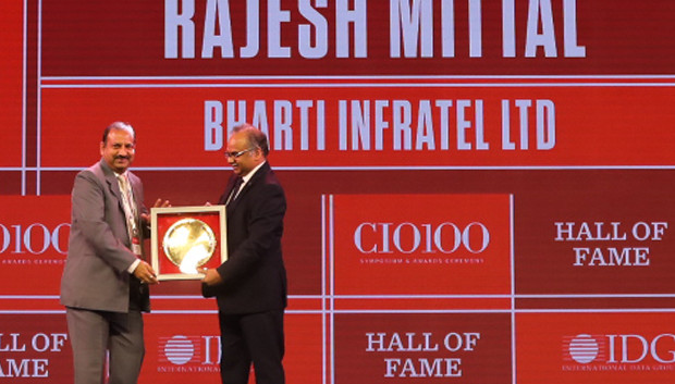 Hall of Fame: Rajesh Mittal, GM and Head of Operations, IT Infrastructure and Smart City, Bharti Infratel receives the CIO100 Special Award for 2019