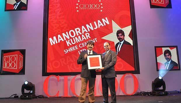 The Transformative 100: Manoranjan Kumar, CIO of Shree Cement receives the CIO100 Award for 2016