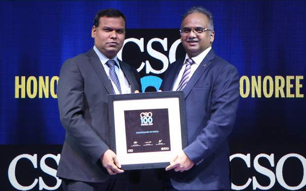 Anil Kuril, Deputy General Manager & CISO of Union Bank of India,receives the CSO100 Award for 2019