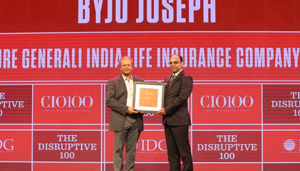 The Disruptive 100: Byju Joseph, Chief Technology Officer, Future Generali India Life Insurance Company receives the CIO100 Award for 2019