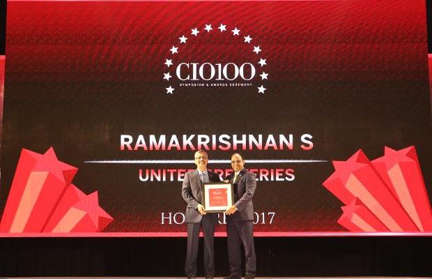 The Digital Innovators: S Ramakrishnan, Divisional VP-IT at United Breweries receives the CIO100 Award for 2017